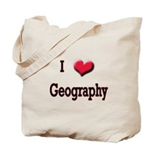 I Love (Heart) Geography Tote Bag