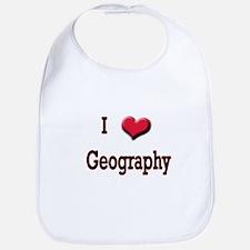 I Love (Heart) Geography Bib