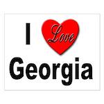 I Love Georgia Small Poster