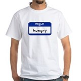 Hello im hungry ladies Mens Classic White T-Shirts