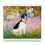Garden / Rat Terrier Tile Coaster
