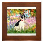 Garden / Rat Terrier Framed Tile