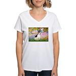 Garden / Rat Terrier Women's V-Neck T-Shirt