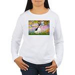 Garden / Rat Terrier Women's Long Sleeve T-Shirt