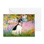 Garden / Rat Terrier Greeting Card