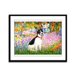 Garden / Rat Terrier Framed Panel Print