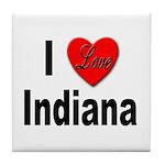 I Love Indiana Tile Coaster