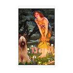 Fairies / Briard Sticker (Rectangle)