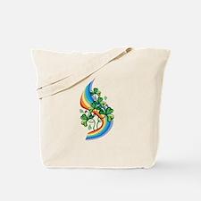 Rainbow and Shamrocks Tote Bag