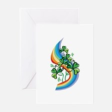 Rainbow and Shamrocks Greeting Cards (Pk of 20)
