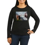 Creation / Briard Women's Long Sleeve Dark T-Shirt