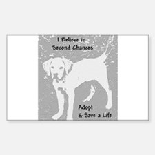 Second Chances Rectangle Decal