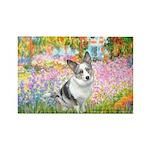 Garden / Corgi (bm) Rectangle Magnet (10 pack)