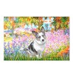 Garden / Corgi (bm) Postcards (Package of 8)