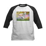 Garden / Corgi (bm) Kids Baseball Jersey