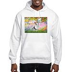 Garden / Corgi (bm) Hooded Sweatshirt
