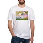 Garden / Corgi (bm) Fitted T-Shirt