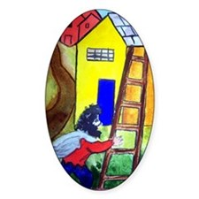 """In the Style of Chagall"" Oval Decal"