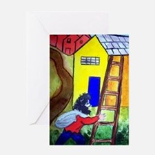 """""""In the Style of Chagall"""" Greeting Card"""