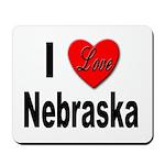 I Love Nebraska Mousepad