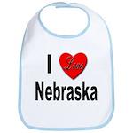 I Love Nebraska Bib