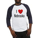 I Love Nebraska (Front) Baseball Jersey