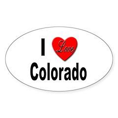 I Love Colorado Oval Decal
