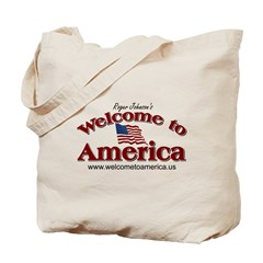 Welcome to America logo Tote Bag