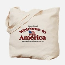Welcome to America logo Tote Bag