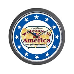 Welcome to America logo Wall Clock