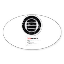 Red Leader Alpha Male Oval Decal