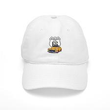 Classic Car Route 66 Baseball Cap