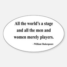 Shakespeare 1 Oval Decal