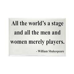 Shakespeare 1 Rectangle Magnet (100 pack)