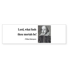 Shakespeare 2 Bumper Sticker