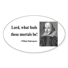 Shakespeare 2 Oval Decal