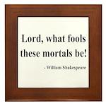 Shakespeare 2 Framed Tile