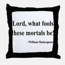 Shakespeare 2 Throw Pillow
