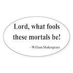 Shakespeare 2 Oval Sticker