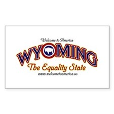 Wyoming Rectangle Decal