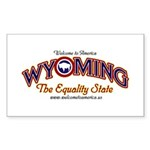 Wyoming Rectangle Sticker