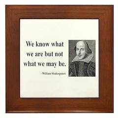 Shakespeare 3 Framed Tile