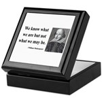 Shakespeare 3 Keepsake Box