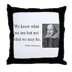 Shakespeare 3 Throw Pillow