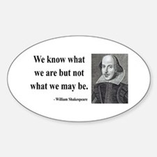 Shakespeare 3 Oval Decal