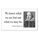 Shakespeare 3 Rectangle Sticker