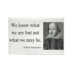 Shakespeare 3 Rectangle Magnet (100 pack)