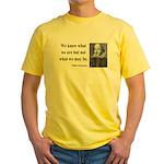 Shakespeare 3 Yellow T-Shirt