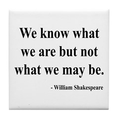 Shakespeare 3 Tile Coaster