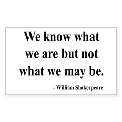 Shakespeare 3 Rectangle Decal